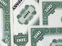 gröna shares för företag Arkivbild