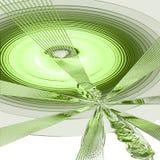 gröna signaler för abstraktion Arkivfoto