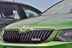 Gröna Skoda Octavia RS Fotografering för Bildbyråer
