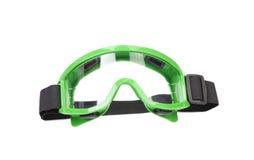 Gröna skyddande exponeringsglas. Fotografering för Bildbyråer