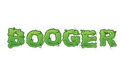 Gröna slambokstäver för Booger Hal bokstäver för snor Arkivbild