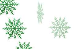 gröna snowflakes Royaltyfri Fotografi