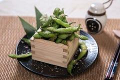 gröna soybeans Fotografering för Bildbyråer