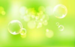 gröna spheres för bakgrund Royaltyfria Bilder