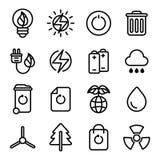 gröna symboler för energi Royaltyfri Foto