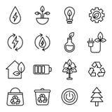 gröna symboler för energi Royaltyfri Fotografi