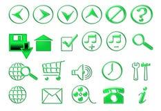 Gröna symboler för platsen Royaltyfri Foto