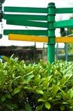 gröna tecken Fotografering för Bildbyråer
