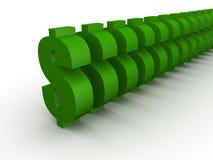 gröna tecken för dollar vektor illustrationer