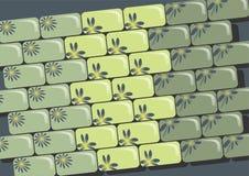 Gröna tegelstenar Royaltyfri Fotografi