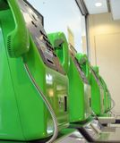gröna telefoner Royaltyfri Bild