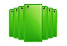 gröna telefoner Royaltyfria Bilder