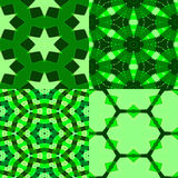 4 gröna texturer Royaltyfria Foton