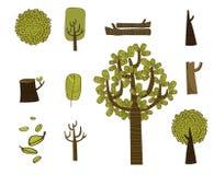 Gröna träd Vektor Illustrationer