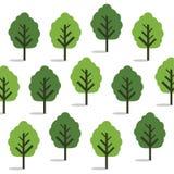 Gröna träd, sömlös tapet Royaltyfria Foton