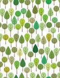 gröna trän stock illustrationer