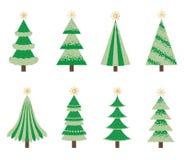 gröna trees för jul Arkivbilder