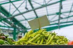gröna varma peppar Arkivfoton