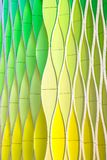 Gröna vinkande kurvor för guling och för silver Fotografering för Bildbyråer