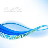 gröna waves för abstrakt blå dunst stock illustrationer