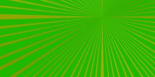 Grönaktig BAKGRUND MED LÄCKAPUNKT VID UNIONEN AV STRÅLAR vektor illustrationer