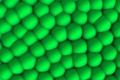 Grönaktig celular lättnad 3d i skuggor Royaltyfria Bilder