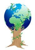 grönaktig görande ny värld Arkivfoto
