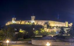 Grönkålfästning på natten Royaltyfri Foto