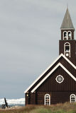 Grönländsk kyrka fotografering för bildbyråer