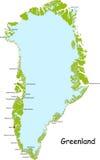 Grönland-Karte Lizenzfreies Stockfoto