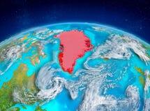 Grönland på jord Royaltyfri Bild