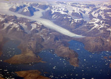 Grönlandglaciär Arkivbild