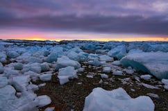 Grönlandicecubes Arkivbild