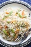 Grönsak Biryani - en populär indisk vegmaträtt Arkivfoton