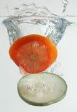 grönsak för 2 färgstänk royaltyfria foton
