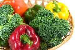 grönsak för 2 korg Arkivfoto