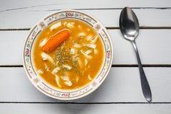 grönsak för bunkesouptomat Royaltyfri Fotografi