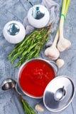 grönsak för bunkesouptomat Arkivfoton