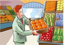 grönsak för egypt fruktmarknad royaltyfri illustrationer