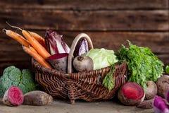 grönsak för korg s Arkivbild