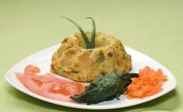 grönsak för quiche för clippingbana Royaltyfria Foton