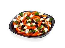 grönsak för sallad för ostfeta grekisk Royaltyfria Foton