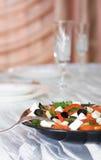 grönsak för sallad för ostfeta grekisk Arkivfoto