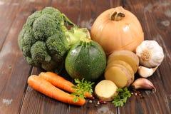 Grönsak för soppa arkivfoton