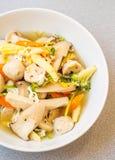 grönsak för soup för fokusmakro grund royaltyfria bilder