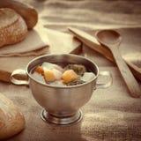 grönsak för soup för fokusmakro grund Royaltyfri Foto