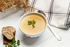 grönsak för soup för fokusmakro grund Arkivbild