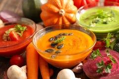 grönsak för soup för fokusmakro grund fotografering för bildbyråer