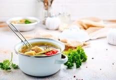 grönsak för soup för fokusmakro grund Arkivfoto