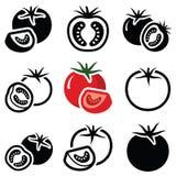 grönsak för tomat för samlingsfruktsymbol Arkivbilder